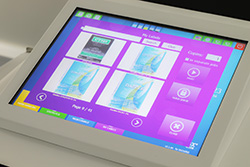 Labels easily produced on touchscreen